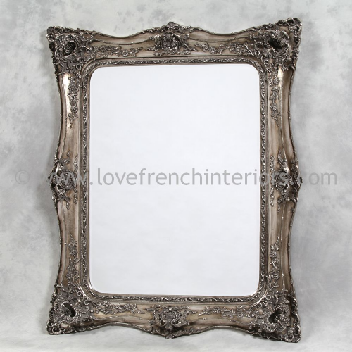 Classic Styled Silver French Mirror